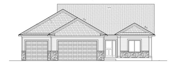 Blueprint front elevation